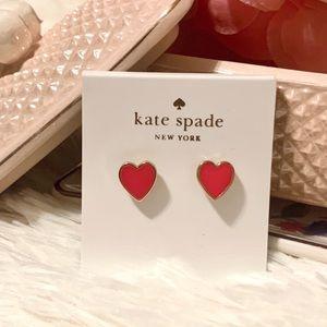 Kate Spade Be Mine pink heart stud earrings